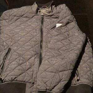 Guess Grey Quilted Bomber Jacker XXL